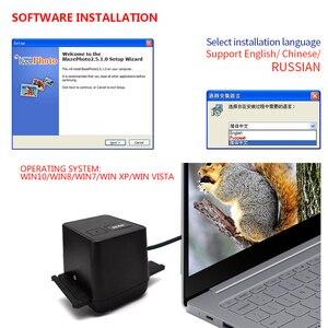 Image 4 - נייד סורק סרט שלילי 35mm 135mm שקופיות סרט ממיר תמונה לבנות עריכת תוכנת USB כבל סורק עבור תמונה