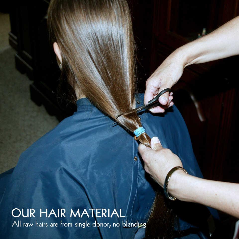 Einem Spender Menschliches Haar Bundles Gerade Brasilianische 12A Natürliche Farbe Unverarbeitete Rohe Reines Haar Junges Mädchen Nerz Haar Weben Bundles