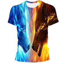 2021 New Animal 3D Printing Fashion, Trendy Round Neck Men's And Women's Style T-Shirts