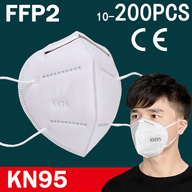 FFP2 face mask KN95  facial masks filtration maske dust mask mouth mask protect Anti-flu bacterial mascarillas masque  tapabocas