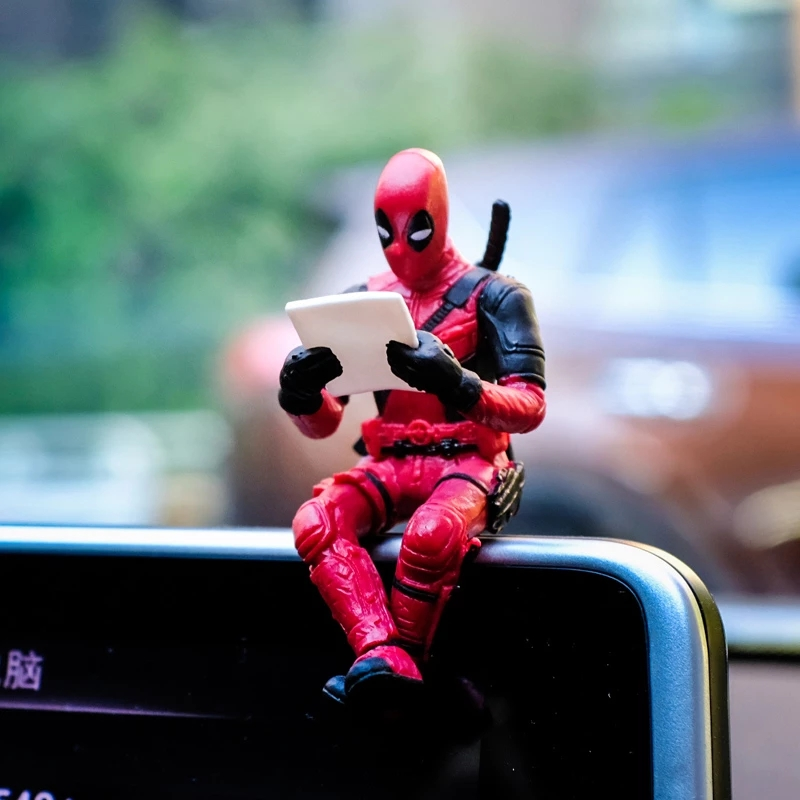 Car Marvel Interior Decoration Personality Anime DeadPool Action Mini Doll For Car Goods Car Interior Accessories Decoration