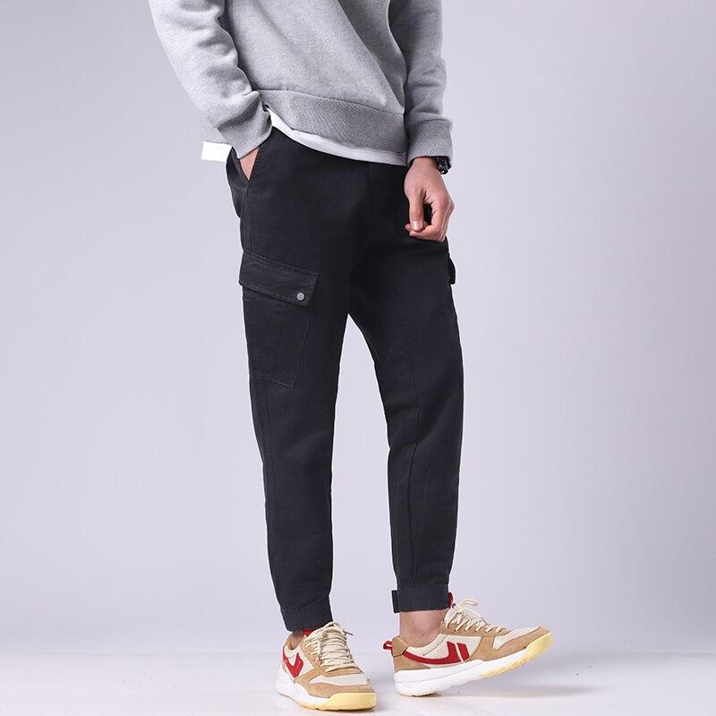 Men Pants Cotton Slim Fit Fashion Loose Elasticity Men New Casual Pants Men Trousers Brand Mens Clothing Hip hop Joggers Pants