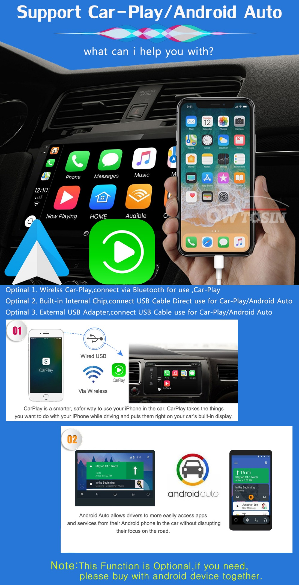 "Top 7"" PX6 4G+64G 2 Din Android 9.0 Car DVD Multimedia Player For KIA Ceed 2009 2010 2011 2012 Venga Radio GPS Navigation DSP CarPla 7"