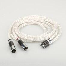 1 пара OCC посеребренный аудиокабель XLR балансировочный кабель RCA штекер к XLR штекер гнездовой аудиокабель 8AG твист кабель