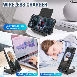 Image 5 - 15W Qi Wireless Charger Stand For iPhone 11 Pro 8 X XS  Samsung s10 s9 s8 Fast Wireless Charging Station Phone Charger