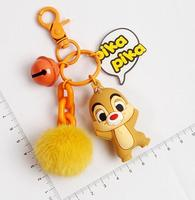 New 10 set Cartoon chipmunk cute Keychain Jewelry Accessories Key Chains Pendant Gifts Favors