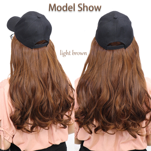 Image 2 - BENEHAIR Baseball Cap With Hair Long Wavy Fake Hair Hat Wig Synthetic Hair Extensions Hat With Hair Natural Hairpiece For Women