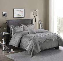 LOVINSUNSHINE Juego de cama de encaje de lujo, monocolor, 3 uds., juego de funda de edredón, fundas de almohada, edredón sábanas, ropa de cama xx05 #