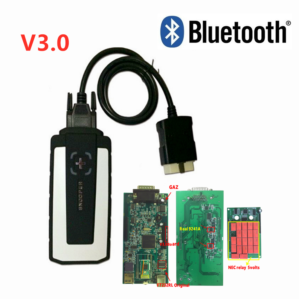 WOW SNOOPER vd ds150e cdp v5.008 R2 keygen on cd nec relay with bluetooth pro plus for delphis car truck obd2 scanner
