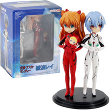 14 Cm Parfom EVA Neon Genesis Evangelion Ayanami Rei Asuka Langley Sōryū PVC Action Figure Anime Collectible Model Toy Doll hadiah(China)