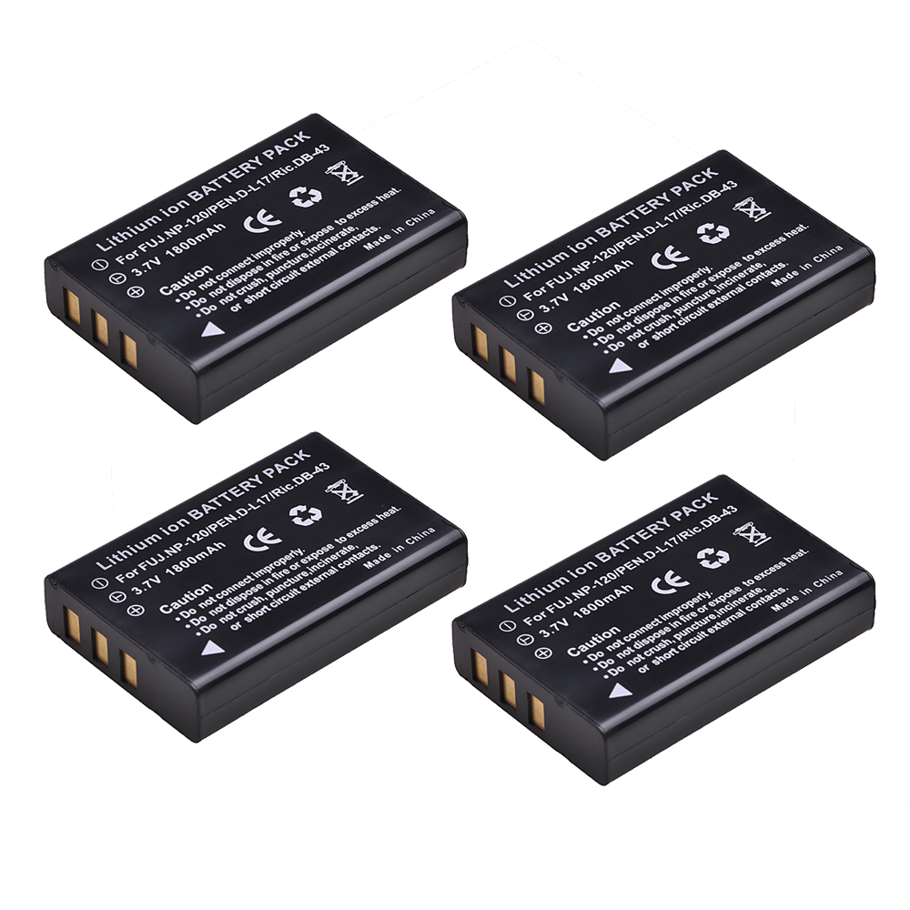 NP-120 NP120 FNP120 DL17 D-Li7 DB-43 BP-1500s Батарея для цифровой фотокамеры Fuji Fujifilm F10 F11 M603 зум Pentax MX4 MX550 RICOH GX8 300G 500G.