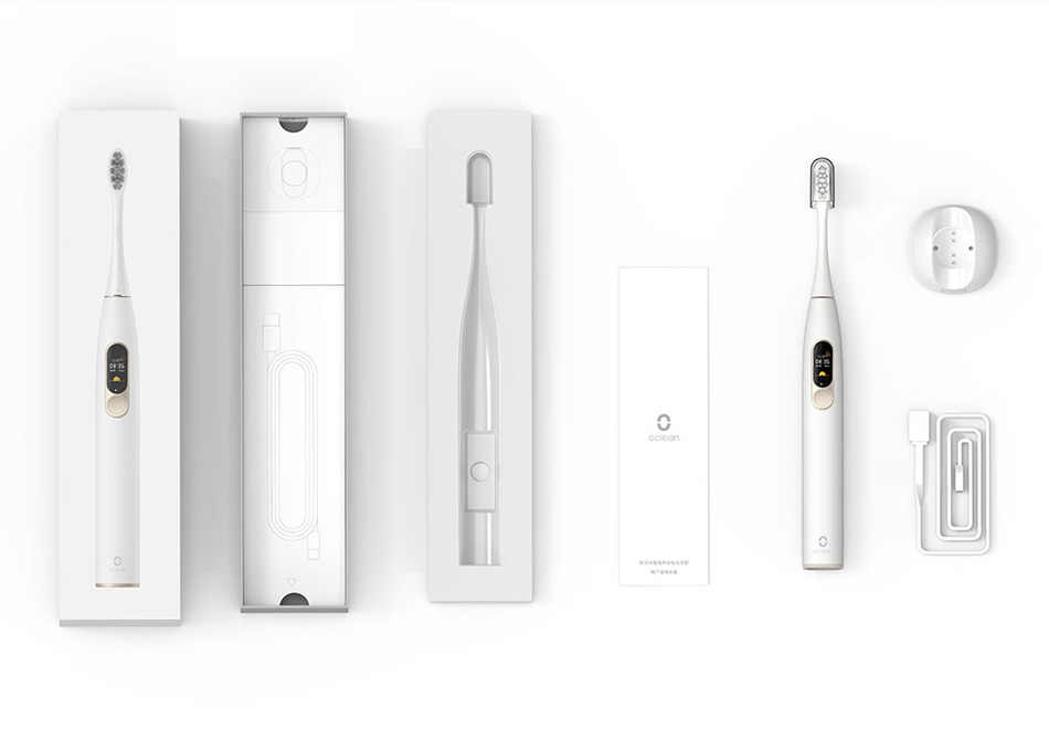 Oclean X-cepillo de dientes eléctrico Sonic, versión Global, cepillo de dientes sónico de carga rápida, pantalla a Color, resistente al agua, para adultos