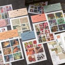 Mohamm 12Pcs ascolta i vecchi giorni serie adesivi decorazione Scrapbooking carta materiale scolastico creativo stazionario