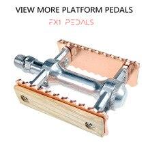 Pedales de bicicleta de piñón fijo Vintage, pedales de bicicleta de montaña plegables de aleación de aluminio, pedales planos de bicicleta de piñón fijo MTB, accesorios de bicicleta