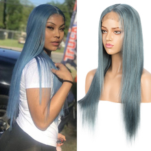 Remy Forte Human Hair Wigs 4X4 Closure Baby Blue Straight Brazilian Orange Blonde Bob Lace wig Short Cosplay Wigs For Women