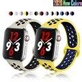 Мягкая силиконовая лента для наручных часов Apple Watch серии 1 2 3 42 мм, 38 мм, версия каучуковый ремешок для наручных часов iWatch, 4/5/6/SE 40MMM 44 мм