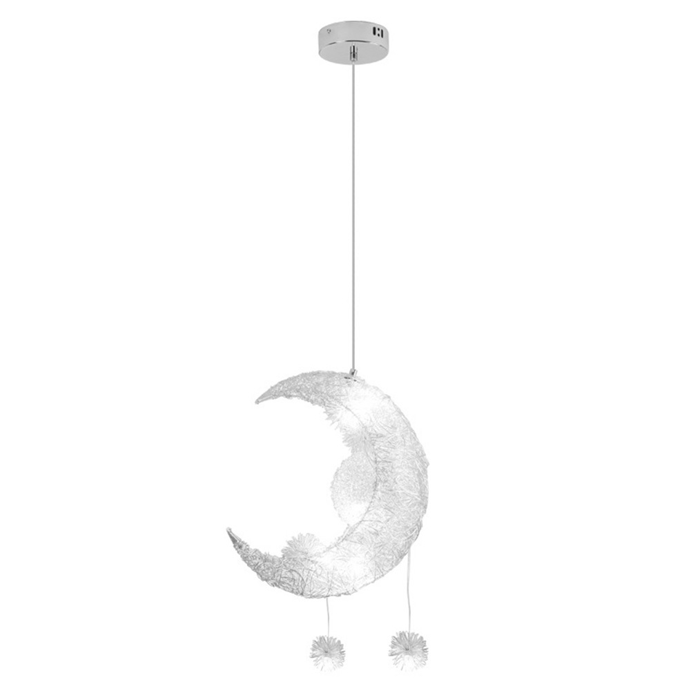 Home Hanging Replacement Led Decorative Aluminum Children Room Pendant Light High Efficiency Modern Moon Star Energy Saving