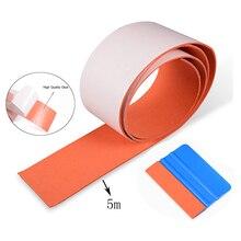 FOSHIO 100/500CM Carbon Fiber Suede Felt Cloth for All Card Squeegee Scraper Non Scratch Edge Vinyl Car Wrap Tinting Protector