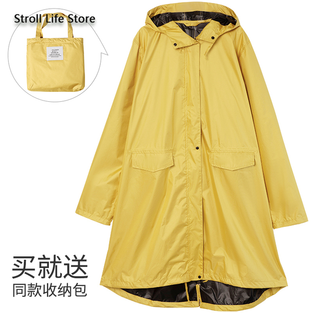 Pink Long Raincoat Women Jacket Hiking Travel Yellow Blocking Sunscreen Rain Coat Waterproof Rain Poncho Windbreaker Impermeable 5