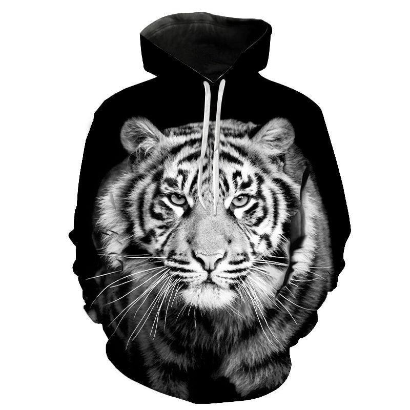 New 3D Print Hoodies Animal Printed Hooded Pullovers Cool Tiger Hoodies Men Women Children Streetwear Sweatshirts Hoody Boy Girl