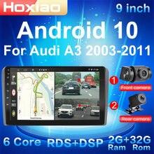 9 pouces 2G + 32G Android 10 2 Din autoradio WIFI GPS Bluetooth multimédia pour Audi A3 8P 2003-2012 S3 2006-2012 RS3 Sportback 2011