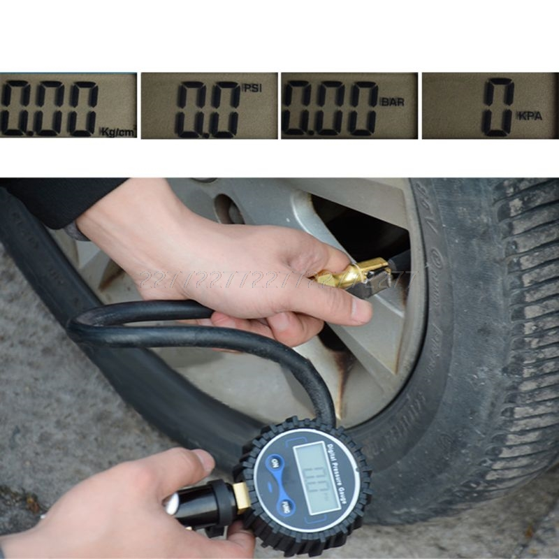 Digital Tire Inflator Pressure Gauge Air Compressor Pump Quick Connect Coupler For Car Truck Motorcycle A18 19 Dropship