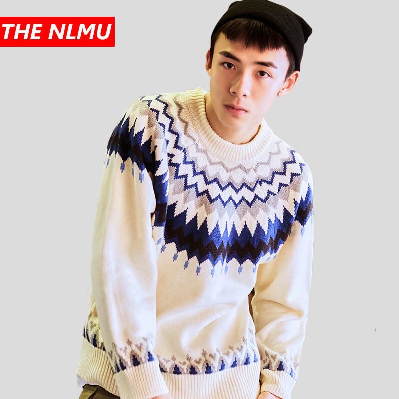 Harajuku Knitted Sweaters Men Women Hip Hop Fashion Printed Pullover Sweater Streetwear Male Winter 2019 Clothes Coat WG694