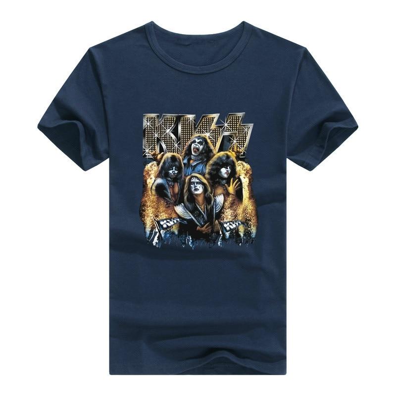 Rock Band Kiss T Shirt Men man T-Shirt Tshirt N Roll Clothing Tee Promotion
