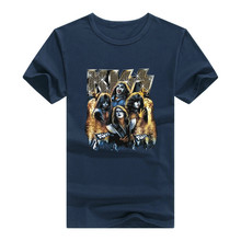 Rock Band Kiss T Shirt Men man T-Shirt Tshirt N Roll Clothing Tee Promotion