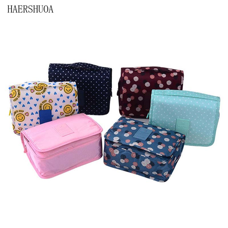 Waterproof New Packaging Barrel Large Capacity Travel Storage Bag Cosmetic Bag Fashion Travel Accessories Portable Hook Package