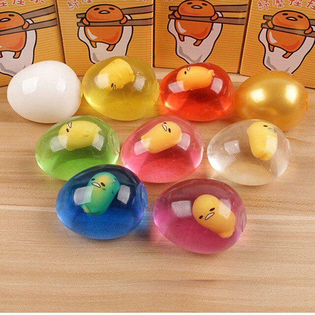 Kuulee Unbreakable Anti Stress Ball Venting Balls Novelty Fun Splat Eggs Squeeze Stresses Reliever Toys Kids Christmas Gifts