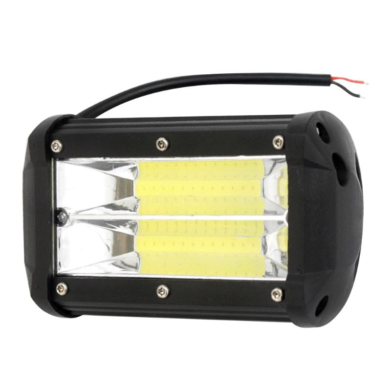 Durable Off Road LED Light Bar 6000K Waterproof Dual Row Car SUV Truck Boat Work Spot Light 5 inch 72W 130x80x57mm