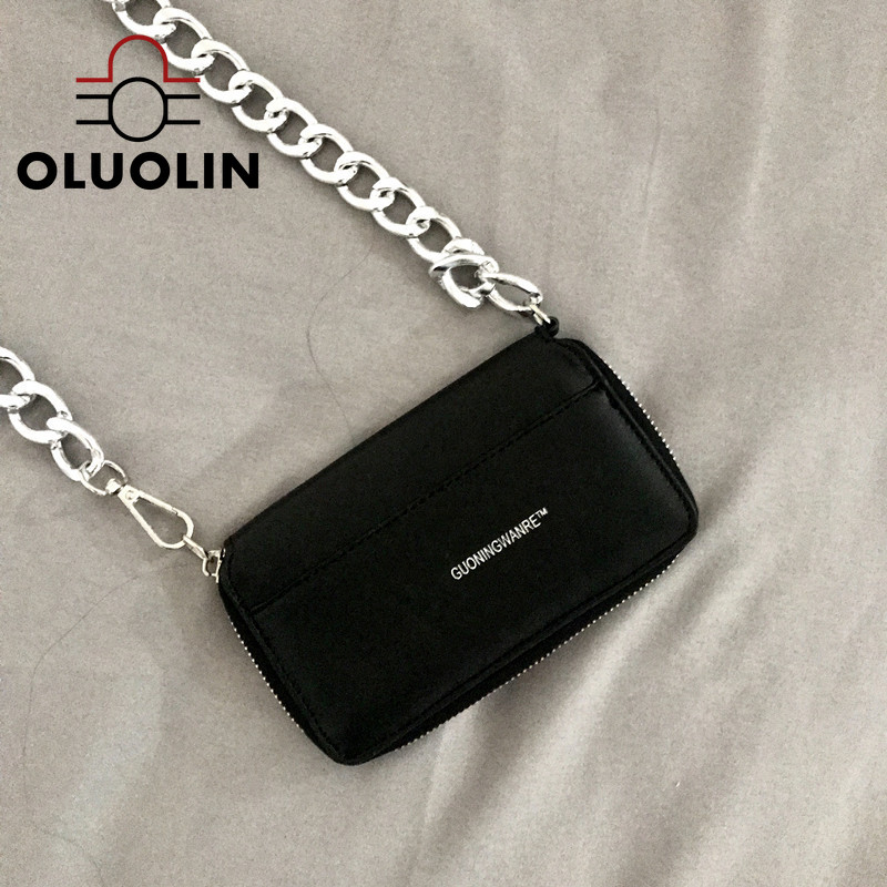 PU Leather Crossbody Bags Women Thick Chain One-Shoulder Messenger Bag Mini Purse Flap Small Zipper Street Outdoor Girls Pouch