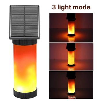 Solar Wall Lights Flickering Flames 102 LED Outdoor Decor Night Light Waterproof New Flame Design for Garden Door Patio Yard image