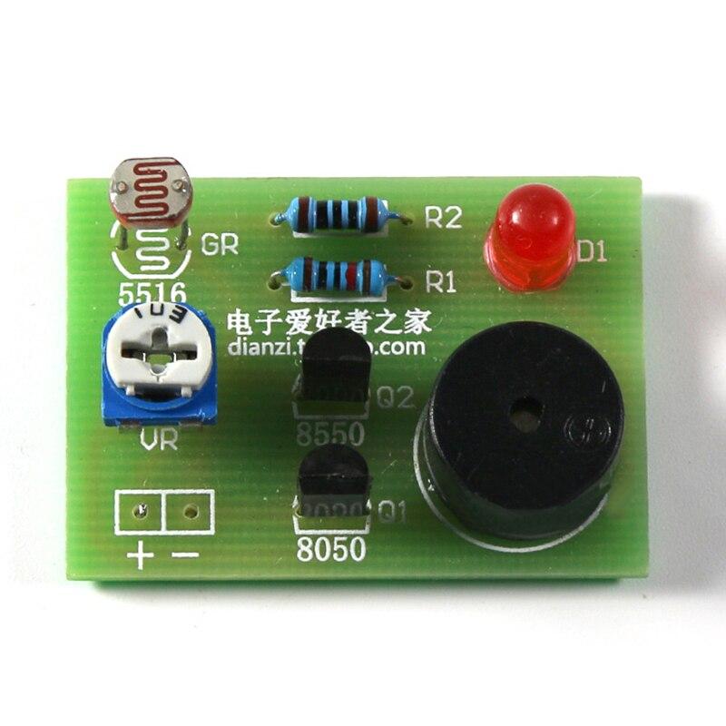 Photosensitive Sound Light Alarm DIY Kit Electronic Production Invention Assembly Sound And Light  Module Sensor Device Suite