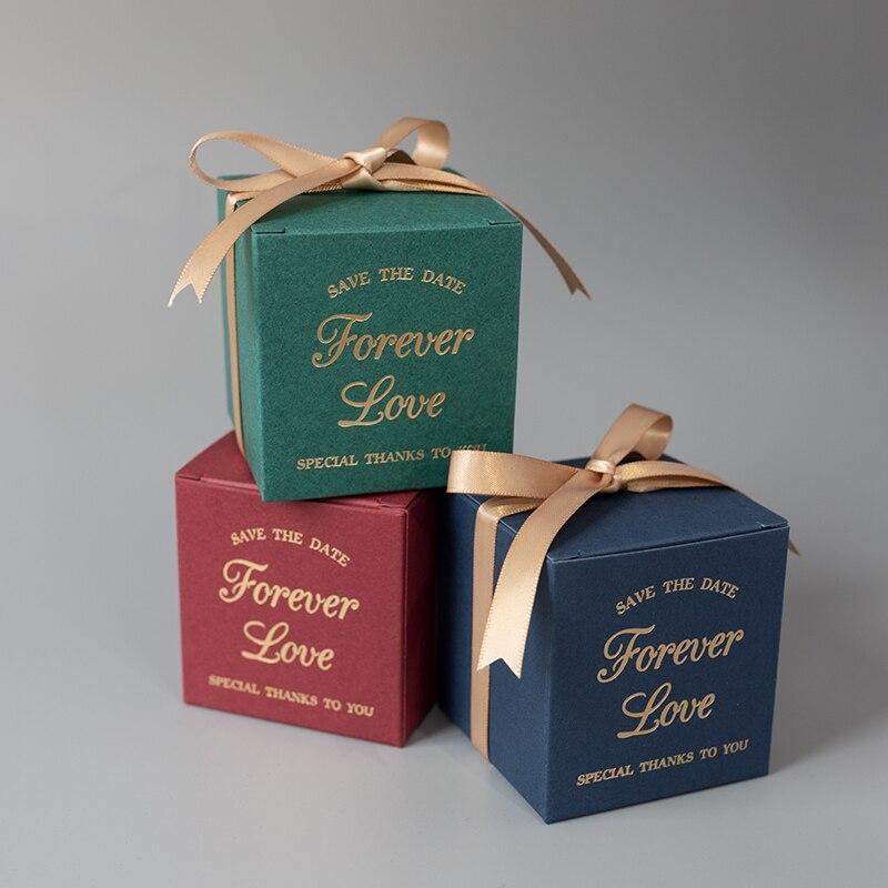 Cadeau de mariage paquet papier boîte à bonbons faveurs de mariage Cand boîte noël et anniversaire bébé douche fête fournitures décoration
