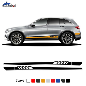 2 Pcs Edition 1 Door Side Stripes Skirt Sticker For Mercedes Benz GLC Class X253 C253 Coupe GLC250 GLC300 GLC63 AMG Accessories image