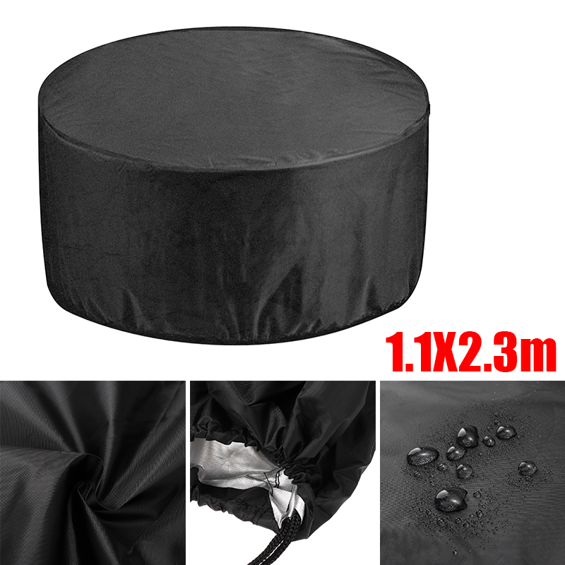 Mayitr Outdoor Garden Patio Large Round Waterproof Furniture Table Chair Set Household Multifunction Dust Cover