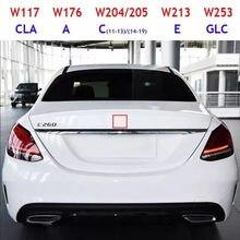 Tronco do carro emblema médio adesivo para um c e cla glc classe 3 pinos estrela com arco original w117 w176 w204 w205 w213 w253 logotipo distintivo