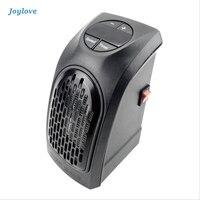 JOYLOVE Electric Handy Heater Portable Room Warmer Temperature Adjustable Heating Mini Wall Warm Fan Heater Remote Control 400W