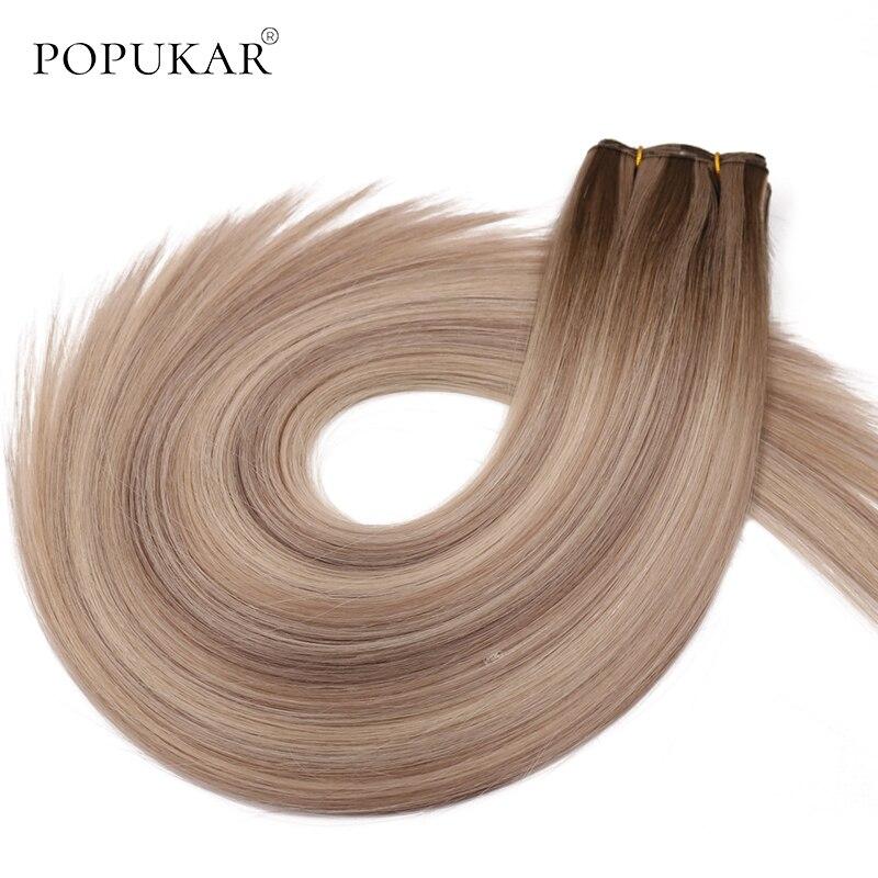 Popukar Unprocessed Ombre Wholesale Bundle Virgin Hair 12-26inch Highlight Brazilian Straight Human Hair Weft