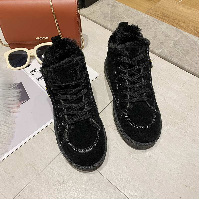 Women's winter sports shoes ladies snow boots casual students warm Martin boots winter plus cotton boots women's cotton shoes 18
