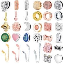 MYBEBOA, 925 пробы, серебро, простое любовное сердечко, Круглый Кулон, бисер, подходит для оригинальной Пандоры, браслет reflexions, сделай сам, подвески, ювелирные изделия
