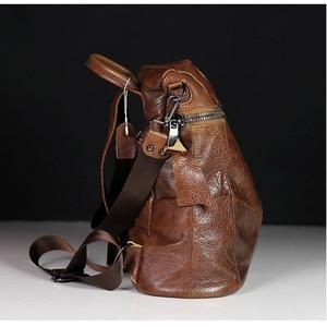 Image 2 - IPinee 패션 디자이너 여성 정품 가죽 배낭 어깨 학교 가방 틴 에이저 여행 소 가죽 여성 배낭