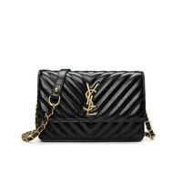 Women's Fashion Classic Designer Handbag Chain Mini Flap OL Crossbody Bag Shoulder Bag for Office Daily