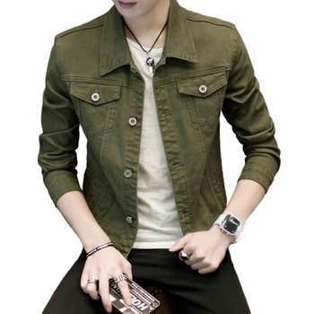 2020 New Mens Denim Jacket Slim Fit Fashion Jeans Jackets Pocket Coat Men Male Spring Autumn Classic Black White