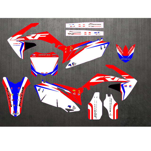 Custom Number GRAPHICS & BACKGROUNDS DECAL STICKER For Honda CRF250R CRF250 CRF 250R 2010 2011 2012 2013