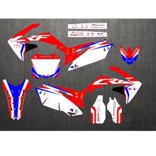 Özel numarası grafik arkaplanma çıkartma Honda CRF250R CRF250 CRF 250R 2010 2011 2012 2013