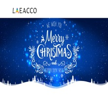 Laeacco Happy New Year Merry Christmas Winter Snow Shiny Star Blue Sky Poster Photo Backdrops Backgrounds Photocall Studio