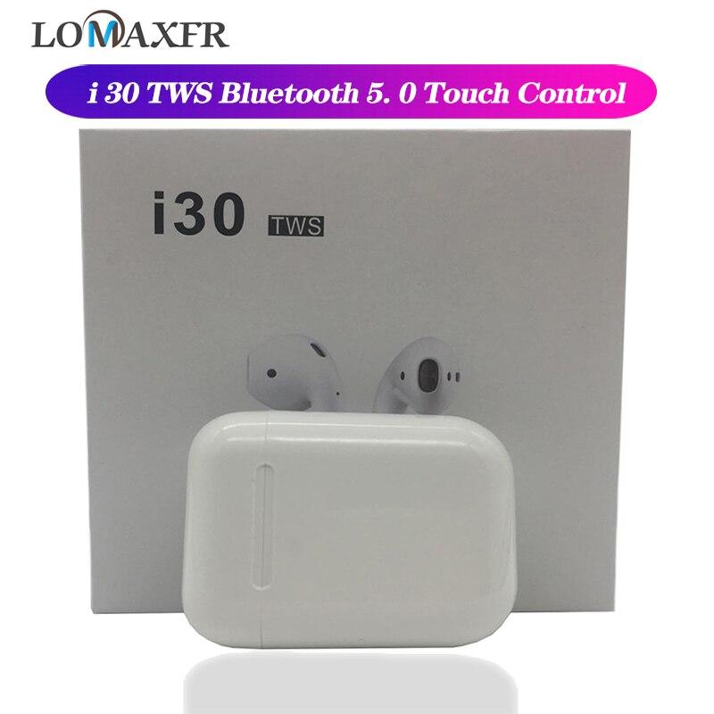 I30 tws auriculares inalámbricos Bluetooth 5,0 auriculares control táctil en la oreja auriculares estéreo con micrófono auriculares para juegos para ios
